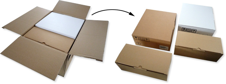 Cartons d'emballage de la Freebox v5